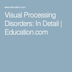 1000 images about visual processing on pinterest for Visual motor processing disorder