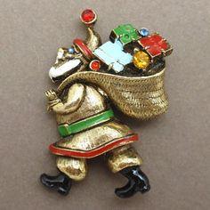 Santa Claus Pin Vintage ART