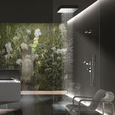 Another #waterfall #shower example. Home improvement and #bathroom ideas