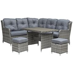 Garden Furniture Houston san diego rattan garden furniture houston grey 6 seater rectangle