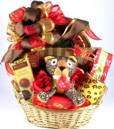 Wild About You, Romance Gift Basket....Valentine's Day, Sweetest Day, Anniversary, I'm Sorry Day (name your own date), or Awww, You're So Sweet Day (whenever she or he IS so sweet...)