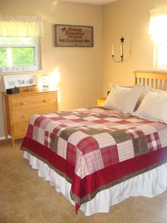 country bedding Country Bedding, Bedroom Red, News Space, Bed & Bath, Decorating Tips, Home Improvement, Bedrooms, Sleep, Beds