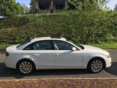 nice Audi: A4 Luxury Sedan 4-Door White exterior w/ beige leather premium interior, 4 dr, excellent condition