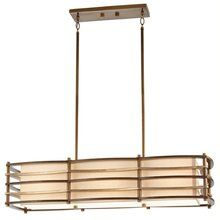 View the Kichler 42061 Moxie Single-Tier Linear Chandelier with 3 Lights - Stem Included at LightingDirect.com.