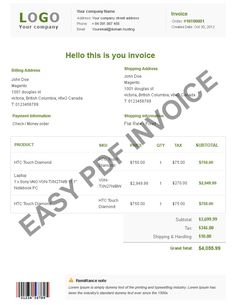 Magento Pdf Templates, Change The Look Of Your Invoice Layout
