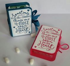 Stampin' Up! Demonstrator stampwithpeg – Tic Tac Holder with Instructions (and a little sneak peek) I've been wanting to make these for a while, I have seen a few on pinterest but never got r…