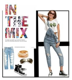 """""""Fashion"""" by bongie-2 ❤ liked on Polyvore featuring Kenneth Jay Lane, Ray-Ban and Converse"""