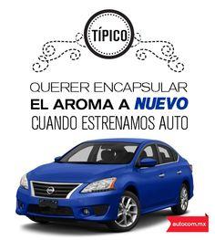 Dicen por ahí que el perfume más caro, es el que desprende un auto nuevo #Nissan #New  #Autocom #Perfume