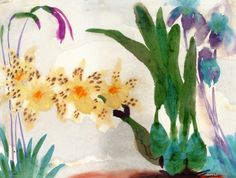 """Flower Still LIfe with Orchids ~ Emil Nolde """