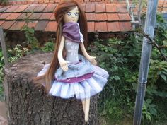 Rag doll cloth doll dress up doll gift for girl by GabYhandmade