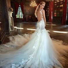 The new collection of couture Galia Lahav dresses with sexy, glam styles for a modern day princess bride with low backs, lace sleeves, and lots of drama!