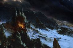 Then the Elves smote upon the gates of Angband, and the challenge of their trumpets shook the towers of Thangorodrim; and Maedhros heard them amid his torment and cried aloud, but his voice was lost in the echoes of the stone. ~ The Silmarillion, Chapter 13 (Angband by samice on deviantART)