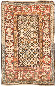Caucasian Kuba rug, 3.0 x 4.7, late 19th c, Fred Moheban Gallery New York