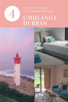 Umhlanga Durban family accommodation. Walk to the beach from here
