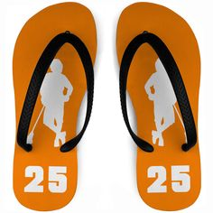 9db1e395c802 Boys Lacrosse Flip Flops - Chillax n Silhouette With Personalized Player  Number Design