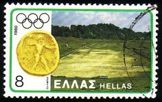 Stamp from Greece Ex Yougoslavie, Olympic Games, James Bond, Postage Stamps, Olympics, Greece, Europe, Type, Sports