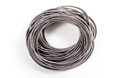 Guitar String Bracelets by CINZIA. $59.95. Sent in a smooth Silk CINZIA Bag. Classy silver and free flowing. Packaged 50 to a pack. Real guitar strings. Yes, these are real guitar strings, packaged 50 to a pack, sent in a smooth Silk CINZIA Bag. Very cool for that inner rocker in all of us.