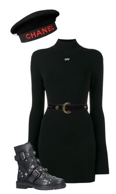 """""""call me, beep me, if you wanna reach me"""" by bettydowns ❤ liked on Polyvore featuring Chanel, Off-White, Carvela and ESCADA"""