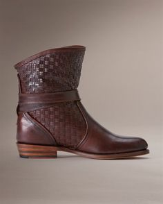 Dorado Short Woven - New Arrivals - The Frye Company    Theme - I love woven brown leather.