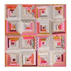 Tipsy Log Cabin Original Quilt by Wise Craft Handmade.