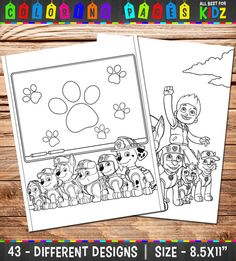 PAW Patrol Coloring Pages 43 Party games от AllBestForKidz