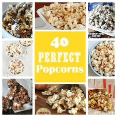 40 Perfect Popcorn Recipes!  www.somethingswanky.com