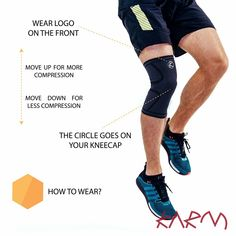 8c8253db1b How to wear KARM Compression Knee Sleeve? It has never been easier.  Compression Sleeve