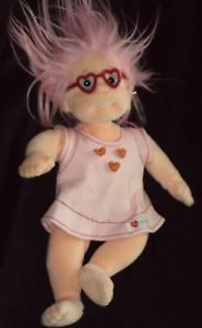 TY Plush Beanie Kids Collection Luvie Dated 2000 Pink Hair Heart Tag 4+ Beanbag