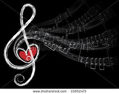 10952473: treble love and music notes (vector) - illustration