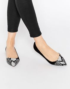 Image 1 - ASOS - LEAPFROG - Ballerines larges et pointues