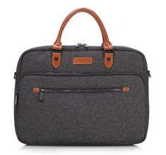 Laptop bag from nylon and faux leather   WITTCHEN   89-3P-111