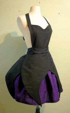 This is a one of a kind MADE TO ORDER Ursula apron! Now you can be your favorite villainess from The Little Mermaid :) This apron is fantastic for