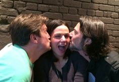 Lana, Fred & Nathan Fillion (one lucky lady). Pic 1, this is how Lana remembers it!