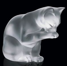 Lalique Crystal - Cat - Style No: 1218700 Art Nouveau, Art Deco, Lalique Perfume Bottle, Perfume Bottles, Lalique Jewelry, Vases, Art Of Glass, Glass Figurines, Glass Animals