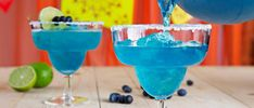Plus up your margarita with a touch of tropical flavor and a pop of color! Take Sauza Signature Blue Tequila, which brings agave goodness to the base of the cocktail, and combine with . Sauza Tequila, Tequila Recipe, Tequila Drinks, Silver Tequila, Cocktails, Blueberry Margarita, Blueberry Cocktail, Blue Margarita, Margaritas