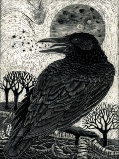 "Crows Ravens: ""#Raven Song,"" by Kay Leverton."