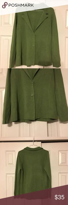 Eileen Fisher Size Medium green Button Down Shirt Eileen Fisher Size Medium green Button Down Shirt.  Preowned but good condition Eileen Fisher Tops Button Down Shirts