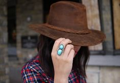 I love turquoise rings