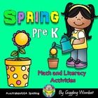 Spring Pre K Math and Literacy by Giggling Wombat | Teachers Pay Teachers