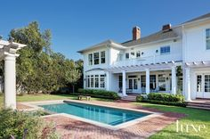 White-Painted Brick Residence Exudes Southern Style | LuxeSource | Luxe Magazine - The Luxury Home Redefined