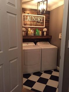 Relaxing Small Laundry Room Design Ideas That You Can Try Rustic Laundry Rooms, Tiny Laundry Rooms, Laundry Room Remodel, Farmhouse Laundry Room, Laundry Room Organization, Laundry Room Design, Laundry In Bathroom, Farmhouse Decor, Laundry Decor