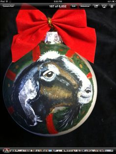 Www.cyndiewade.com Christmas Animals, Custom Paint, Christmas Bulbs, Pets, Holiday Decor, Painting, Animals And Pets, Christmas Light Bulbs, Painting Art