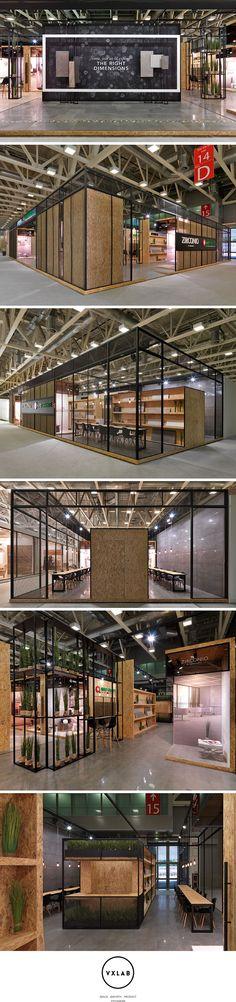 Zirconio + Niro Granite Stand @ Cersaie 2014 Tile Exhibition design by VXLAB Branding & Design Direction
