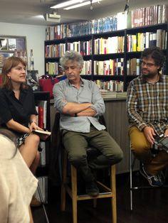 Presentación de «La mala luz» de Carlos Castán con Silvia Sesé, editora de Destino, y Sergio del Molino.