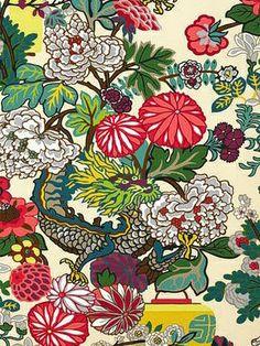 DecoratorsBest - Detail1 - Sch 5001063 - Chiang Mai Dragon - Alabaster - Wallpaper - Fabrics - DecoratorsBest