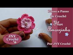 Passo a Passo de Crochê Flor YouTube ༺✿ƬⱤღ  https://www.pinterest.com/teretegui/✿༻