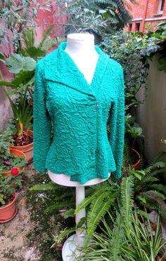 Anna Povo S/S 14 green jacket