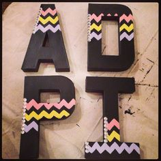 Chevron ADPI letters with jewels!