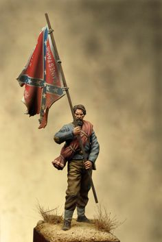 Color Bearer, Mississippi, Art Girona News Mississippi, Confederate States Of America, Confederate Flag, Military Figures, Military Art, American Civil War, American History, Toy Soldiers, Lead Soldiers