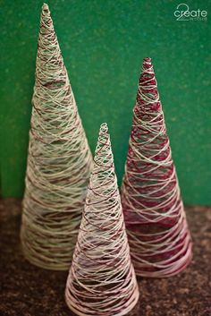 DIY thread trees. Super easy and cheap!